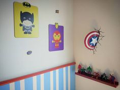 Detalhes do quarto dos heróis dos meus filhos! #quartodemenino #decoracao #herois #Instadecor #instahome