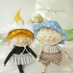 Купить Мальчик Колокольчик Кукла текстильная маленькая - кукла, текстильная кукла, маленькая кукла