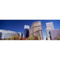 Low angle view of skyscrapers Downtown Denver Denver Colorado USA 2011 Canvas Art - Panoramic Images (18 x 7)