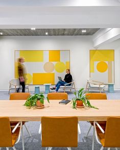Regionally-themed colors at Uber's EMEA Headquarters in Amsterdam   design by Assembly @assembly_dsgn / CannonDesign @cannondesign   photo…