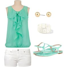 """Mint Outfit"" by saraduck on Polyvore"