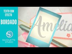 (2640) Cómo hacer Efecto BORDADO en texto. Tag Silhouette Studio. - YouTube Notebook, Youtube, Texts, How To Make, Needlepoint, Youtube Movies, Exercise Book, The Notebook, Journals