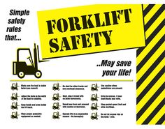 forklift safety - Google Search Safety Posters, Simple Rules, Eye Protection, Save Life, Certificate, Warehouse, Logo, Google Search, Kids