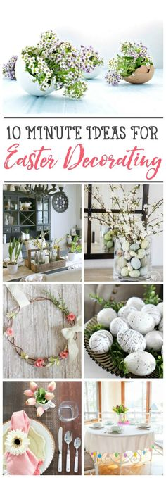 Beautiful Easter decor ideas that can be done in no time! Easter Table Decorations, Easter Decor, Easter Ideas, Easter Recipes, Easter Activities For Kids, Easter Celebration, Egg Decorating, Holiday Decorating, Hoppy Easter