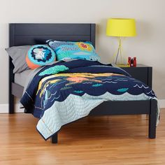 Twin Uptown Bed (Midnight Blue)