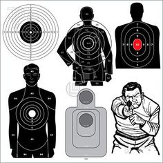 Free Online Printable Shooting Targets   Set Of 6 Vector Shooting Targets Illustration. Royalty Free Vector by ...