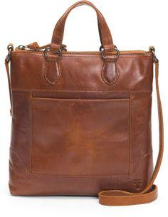 Frye Melissa Small Tote Distressed Leather Crossbody Bag - Cognac N/A Latest Handbags, Popular Handbags, Fall Handbags, Cute Handbags, Purses And Handbags, Luxury Handbags, Cheap Handbags, Pink Purses, Satchel Handbags