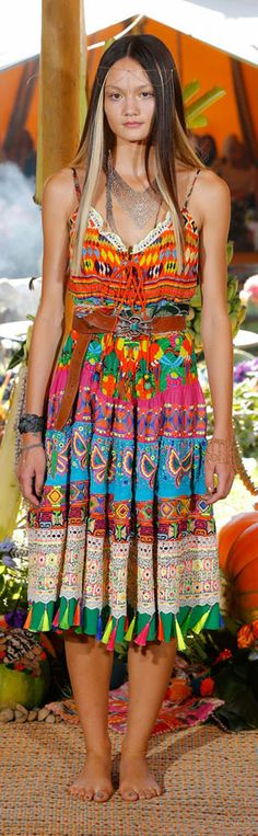 I can so recreate this!!! Yay!!! got a pretty printy dress and a head chain and some nice sandals & maybe without the necklace   printed boho dress by Camilla Franks