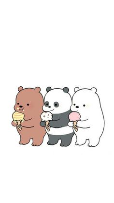 we bare bear♡ Cute Panda Wallpaper, Disney Phone Wallpaper, Cartoon Wallpaper Iphone, Bear Wallpaper, Kawaii Wallpaper, We Bare Bears Wallpapers, Panda Wallpapers, Cute Cartoon Wallpapers, Cute Cartoon Drawings