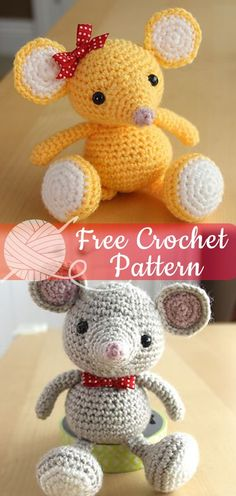 Crochet Stuffed Toys Crochet Baby Mouse Amigurumi Free Pattern - Amigurumi Crochet Mouse Toy Softies Free Patterns - Amigurumi Crochet Mouse Toy Softies Free Patterns: Crochet Ballerina Mouse, Forest Mouse, Tiny Little Mouse, Minnie Mouse, Kids Toy Crochet Animal Patterns, Crochet Patterns Amigurumi, Crochet Dolls, Crochet Puff Flower, Crochet Flowers, Fabric Flowers, Crochet Mouse, Diy Crochet, Softies