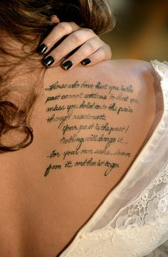 Wordds To Live By Word Tattoos tobiastattoo.com #Word #Tattoo