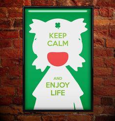 Yotsuba-Inspired Poster - Keep Calm  by PixelArtStudio, $7.00