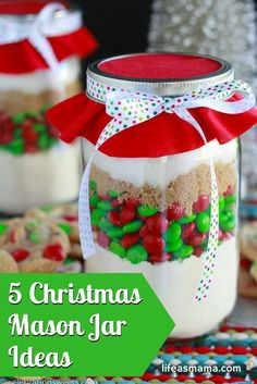 Looking for some simple and easy Christmas gifts this year? These mason jar ideas are perfect for you. They are great for neighbors, teachers and hostess gifts. You'll never have to turn up empty handed. The best part, they are also super affordable. Chec