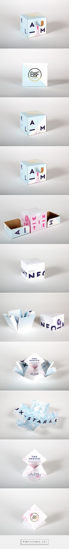 B&F Papers Packaging designed by Supply and THINK Packaging - http://www.packagingoftheworld.com/2015/10/b-papers-packaging-promotion-project.html