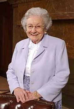 Marjorie Pay Hinckley. A remarkable woman. The first time I met her she reached out to me and embraced me like we were family as though we just hadn't seen each other for a while.