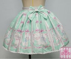 (Replica)Dream of Lolita Bow Whimsical Vanilla-Chan Skirt