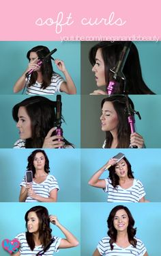 """Check out our """"Soft Curls"""" tutorial! <3 :D http://www.youtube.com/watch?v=DOMKDlk4G7c #meganandliz #macers #tutorial #hair #curls #soft #beauty #style #fashion #diy"""