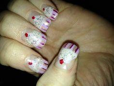 "Happy Birthday to me ""cupcakes"" nails!"