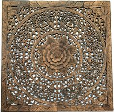 Home Decor Wall Hangings how to make ceiling wall hanging decoration diy home decor ideas Elegant Wood Carved Wall Plaque Wood Carved Floral Wall Art Asian Home Decor Wall Art Panels Bali Home Decor 48x48x05 Available In Black Wash