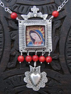 Virgen de Guadalupe Nicho  Pure Silver (metal clay). ©2009 Lorena Angulo