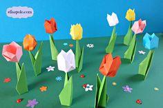 Haz unos bonitos y fáciles tulipanes de papel ideales para tus proyectos de Pascua y Primavera o para adornar cualquier rincón de tu casa.SI TE GUSTAN MIS VÍ...