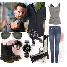 You got to look good even for (The Walking Dead!), created by rorie-burke on Polyvore