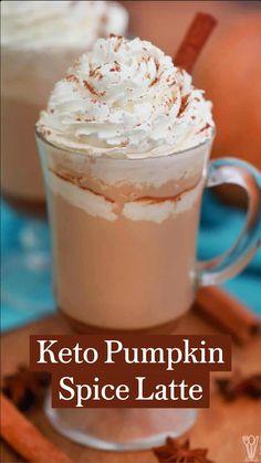 Low Carb Drinks, Low Carb Desserts, Low Carb Recipes, Vegan Keto Diet, Low Carb Keto, Ketogenic Diet, Keto Pumpkin Pie, Pumpkin Spice Latte, Keto Desert Recipes