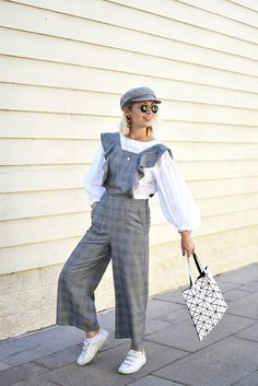 Plaid Ruffle Jumpsuit • I wore this plaid ruffle jumpsuit shopping over the past weekend and must have been stopped 6 or 7 times asking about it. I'm pretty surprised people loved