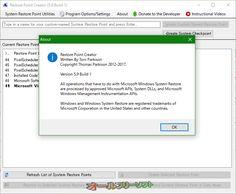 Restore Point Creator 5.9 Build 1   Restore Point Creator--About--オールフリーソフト