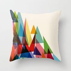 Mixed shades Throw Pillow by Cynthia Alvarez