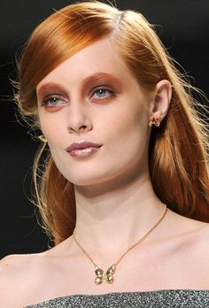 Rodarte - Lavender brown lip, cheek and eye - Fall 2014 New York Fashion week