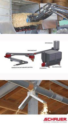 Strohmatic Einstreusystem für den Rinderstall. Rinder Stall, Beef Farming