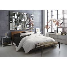dondra bed in bedroom furniture | CB2