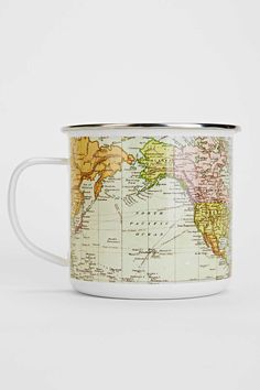 Enamel Map Mug