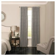 "Barrou Blackout Curtain Grey (52""x108"") - Beautyrest"