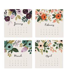 botanical calendar by rifle paper
