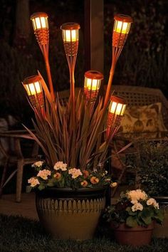 outdoor lighting design ideas with garlands and candles