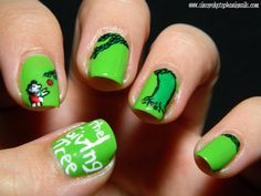Nail art(!): The Giving Tree by Shel Silverstein.