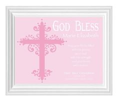 Hey, I found this really awesome Etsy listing at https://www.etsy.com/listing/123179039/first-holy-communion-gift-personalized