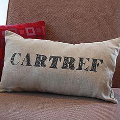 welsh 'home' cushion