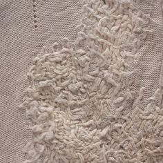 Embroidery detail with heavy texture; surface creation; fabric manipulation; textiles design // Manon Gignoux