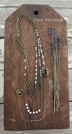 Elsie Necklace From Jeanne Oliver Designs.