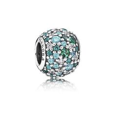 Ocean Mosaic Pavé Charm, Mixed Green CZ & Green Crystal | PANDORA