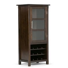 Wine Racks - Simpli Home Avalon High Storage Wine Rack Rich Tobacco Brown >>> Read more at the image link.