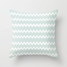 Wedgewood Blue Winter Chevron Design Throw Pillow by Secretgardenphotography [Nicola] - $20.00