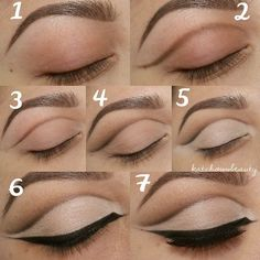 How to make cut crease eye makeup #makeup #tutorial  #stepbystep: