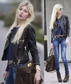Prada Bag, Ltb Jeans, Ray Ban Sunglasses, Zara Jacket, Marc By Marc Jacobs Watch