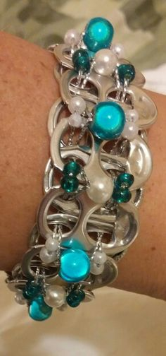 Can tab bracelet w/beads $12 - EcoChique@aol.com