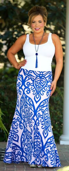 Perfectly Priscilla Boutique - The Royal Order Maxi Skirt, $36.00 (http://www.perfectlypriscilla.com/the-royal-order-maxi-skirt/)