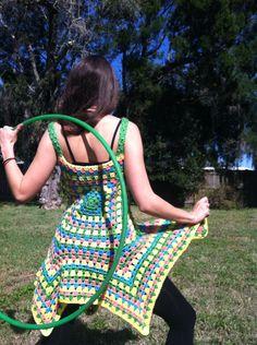 Candy Raver UV Bright Crochet Pixie Dress by EarthTricks on Etsy https://www.etsy.com/listing/219957197/candy-raver-uv-bright-crochet-pixie